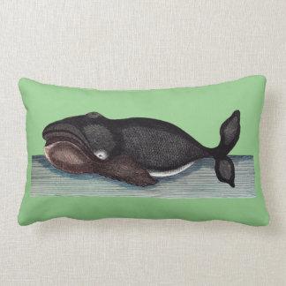 Whale green cushion