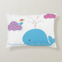 Whale Have Fun Accent Pillow