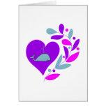 Whale Heart Greeting Card