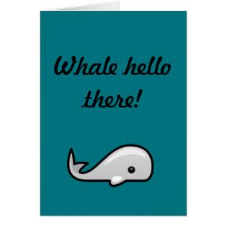 Whale Hello! Card