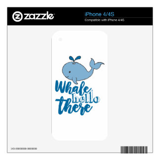 Whale Hello There Skin For The iPhone 4S