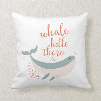 Whale Hello Throw Pillow