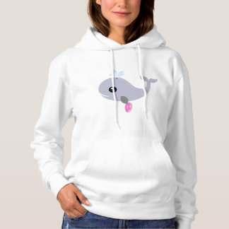Whale Holding Donut Hoodie