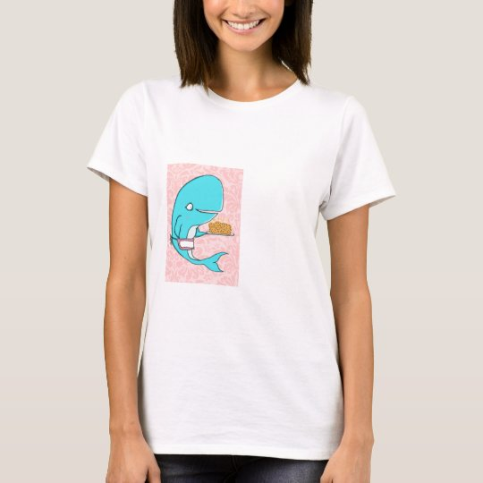 Whale homemaker mother with krill cake T-Shirt
