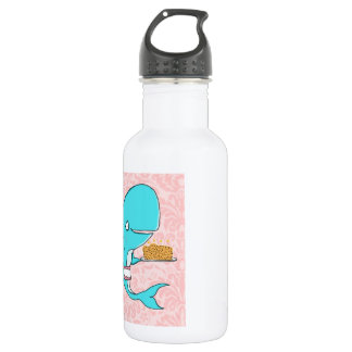 Whale homemaker mother with krill cake water bottle