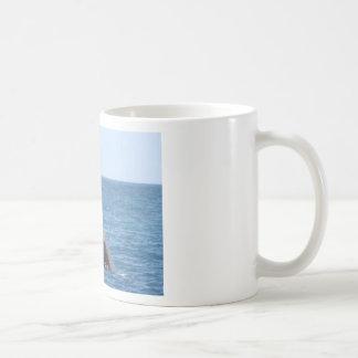 Whale Huggers Square Button Classic White Coffee Mug