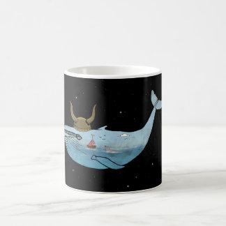 Whale illustration classic white coffee mug