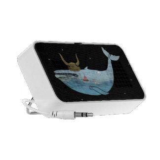 Whale illustration PC speakers