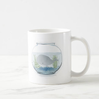 Whale in a Fishbowl 2 Classic White Coffee Mug