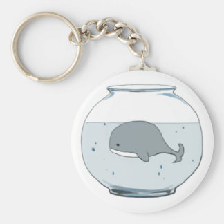 "Whale in a Fishbowl ""Save Our Ocean"" Keychain"