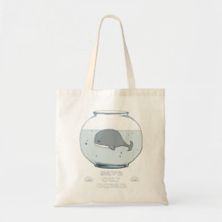 "Whale in a Fishbowl ""Save Our Ocean"" Tote"