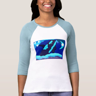 Whale in blue go blue for the ocean shirt