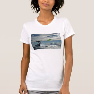 Whale in clouds tee shirt