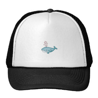 Whale in Love with Hearts Trucker Hat