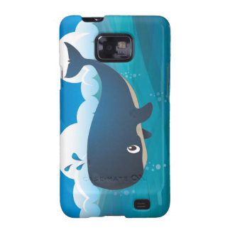 Whale in the Deep Blue Sea. Samsung Galaxy SII Cover