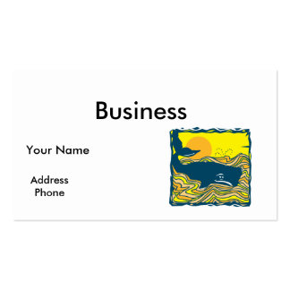 whale in the sunset design Double-Sided standard business cards (Pack of 100)