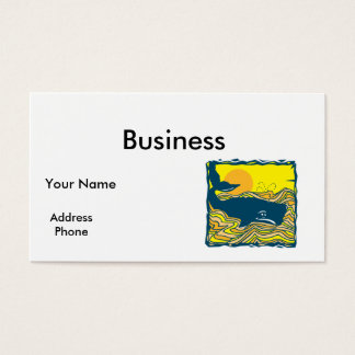 whale in the sunset design business card