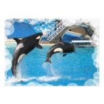 Whale Invitation Postcard