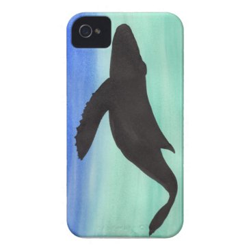 Beach Themed Whale iPhone 4 Cover