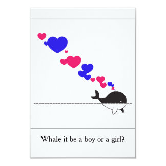 Whale it be a boy or girl? card