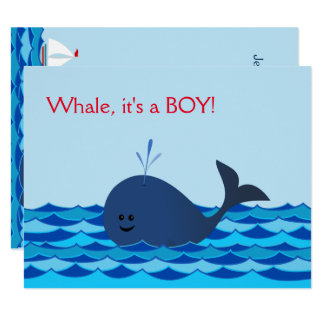 Whale It's A Boy Baby Shower Invite