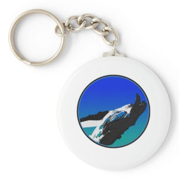 Beach Themed Whale Keychain