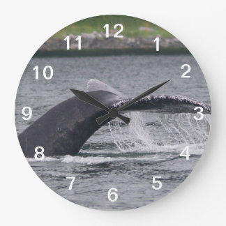 whale large clock