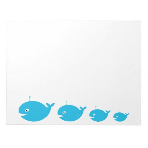 Whale Large Notepad