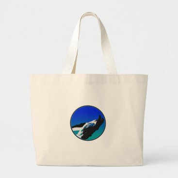 Beach Themed Whale Large Tote Bag