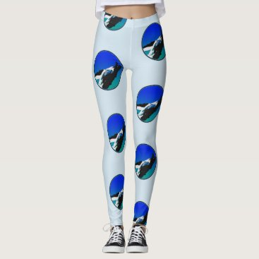 Beach Themed Whale leggins leggings
