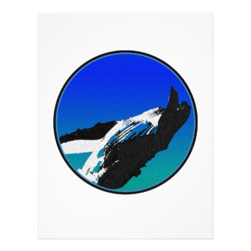 Beach Themed Whale Letterhead