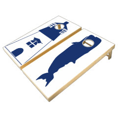 Whale & Lighthouse Cornhole Set