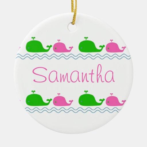 Whale Love Custom Ornament