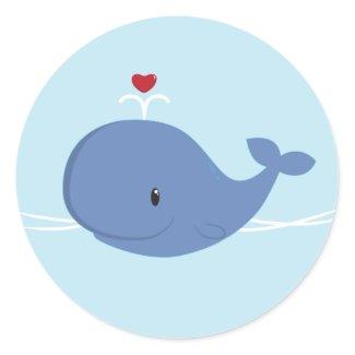 Whale love sticker