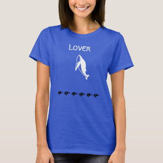 Whale LOVER blue t-shirt