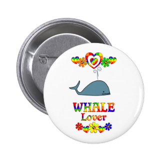 Whale Lover Button