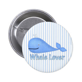 Whale Lover Pinback Buttons