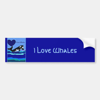 Whale Lover Killer whale bumper sticker