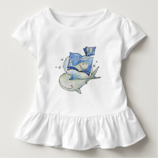 Whale loves to read girl T-Shirt