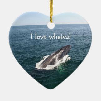 Whale lunge, pendant ceramic ornament