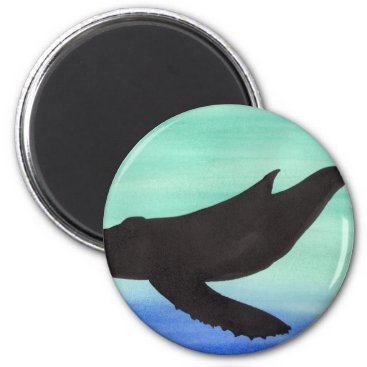 Beach Themed Whale Magnet