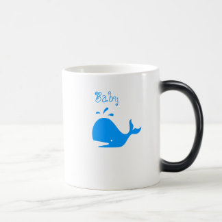 Whale Mania_Family Style Baby Whale morphing 11 Oz Magic Heat Color-Changing Coffee Mug