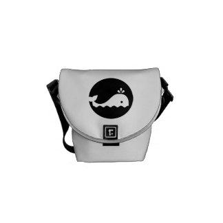 Whale moon courier bags