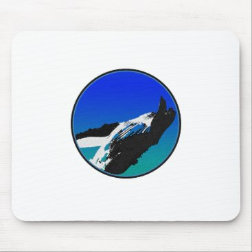 Beach Themed Whale Mouse Pad