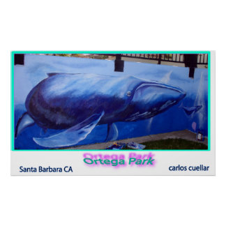whale mural poster