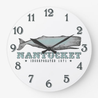 Whale Nantucket MA Inc 1671 Wall Clock