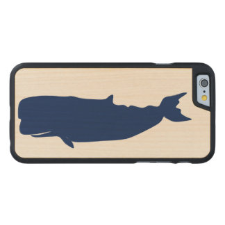 Whale Navy Carved® Maple iPhone 6 Case