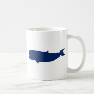 Whale Navy Coffee Mug