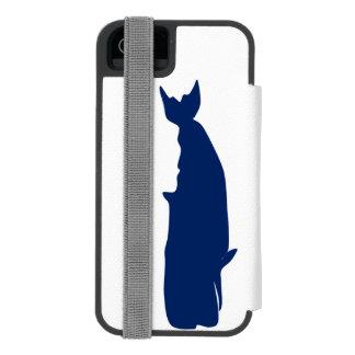Whale Navy iPhone SE/5/5s Wallet Case