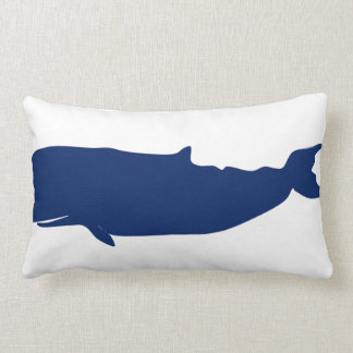 Whale Navy Pillow